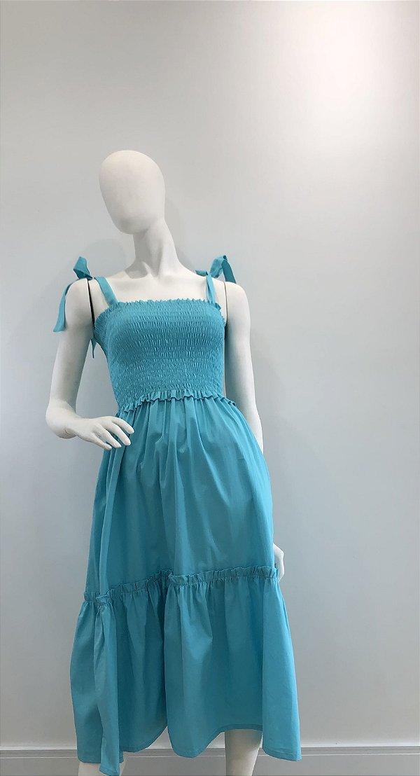 Vestido Valentina Azul Tiffany
