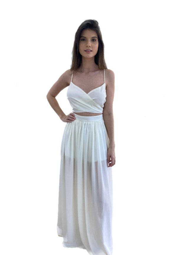 Vestido Eduarda Branco