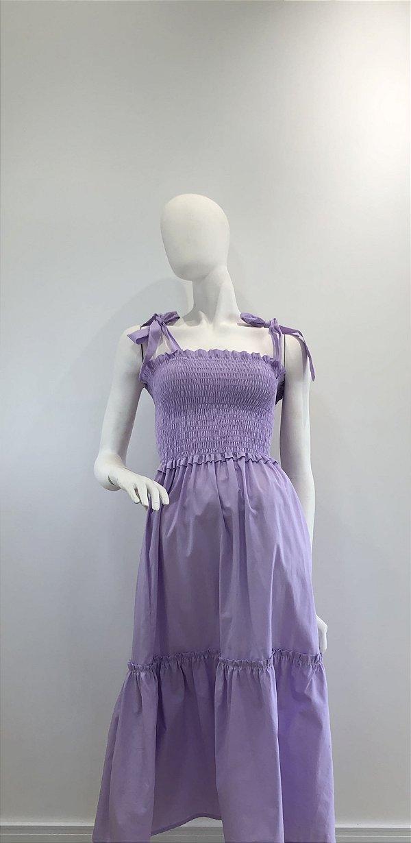 Vestido Valentina Lilás Claro