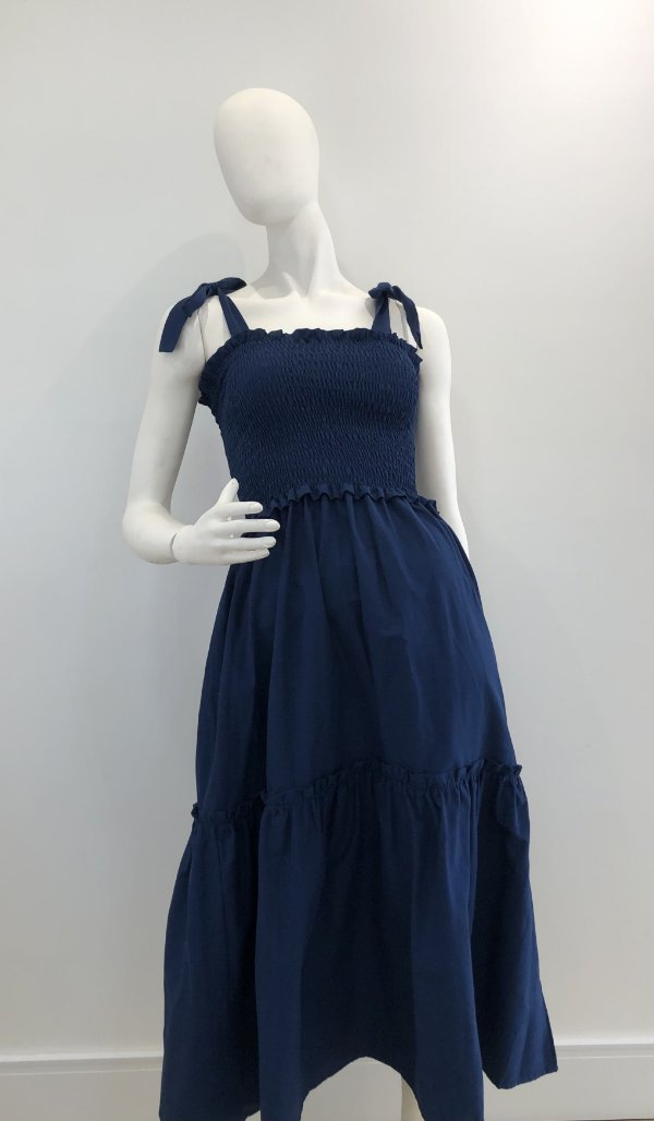 Vestido Valentina Azul Marinho