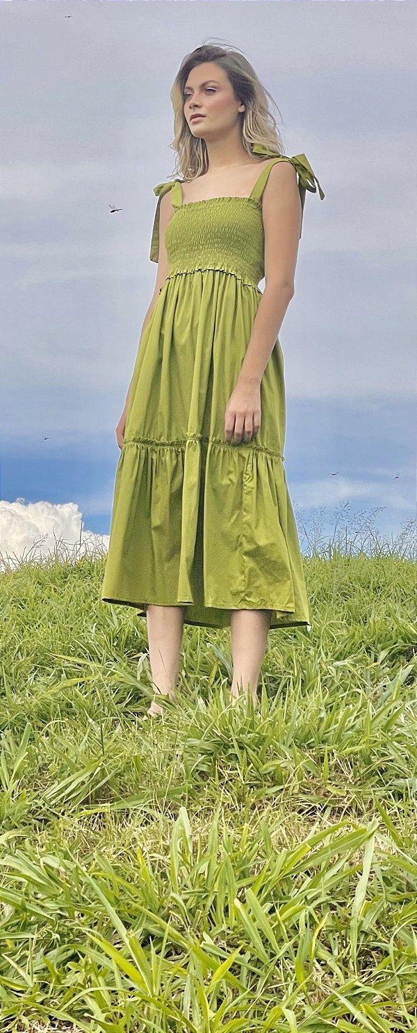 Vestido Valentina Verde Musgo