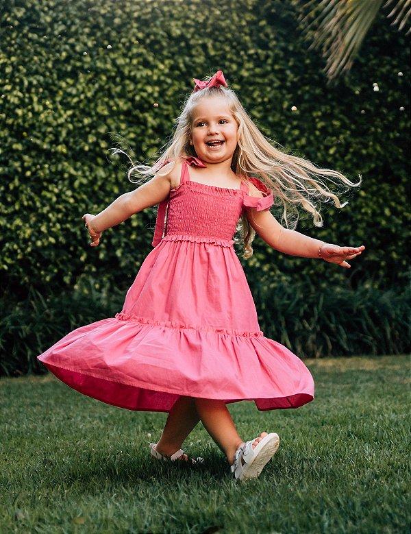 Vestido Infantil Valentina Rosa