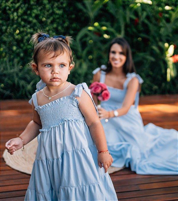 Vestido Tina Azul Bebê Infantil