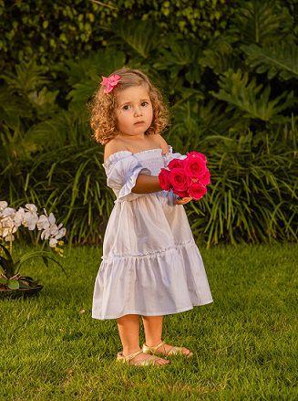 Vestido Amelie branco infantil