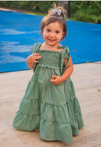 Vestido Tina Verde Infantil