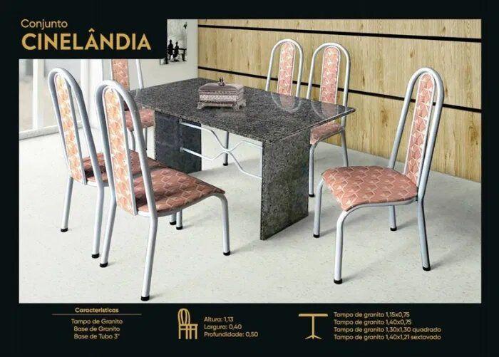 CONJ JOMETAL CINELANDIA 6 CAD 1,40X0,75