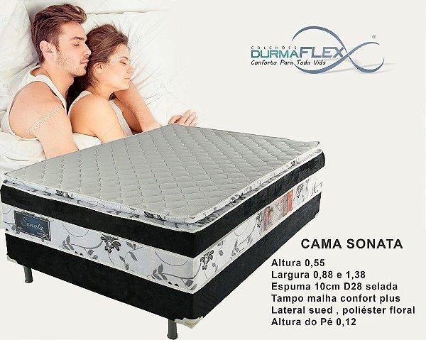 CAMA ACOPLADA DURMAFLEX SONATA C/PILLOW TOP 0,88X1,88X0,57
