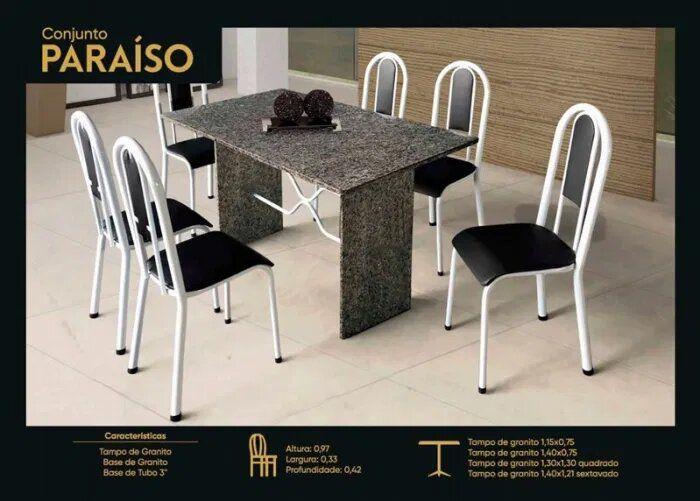 CONJ JOMETAL PARAISO 6 CAD 1,40X0,75