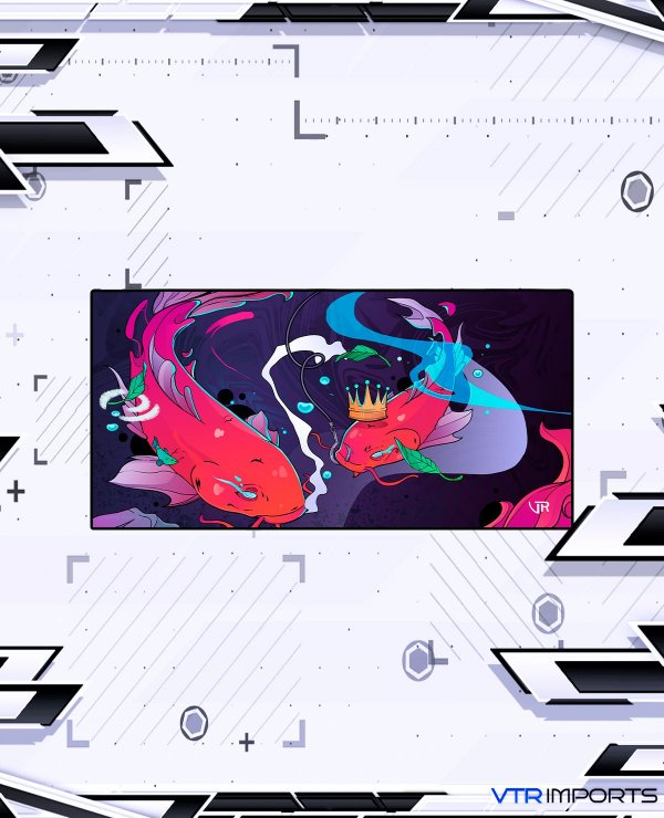 Mousepad Inked Gaming Collab VTR Imports - Koi Pond LARGE (90x40cm)
