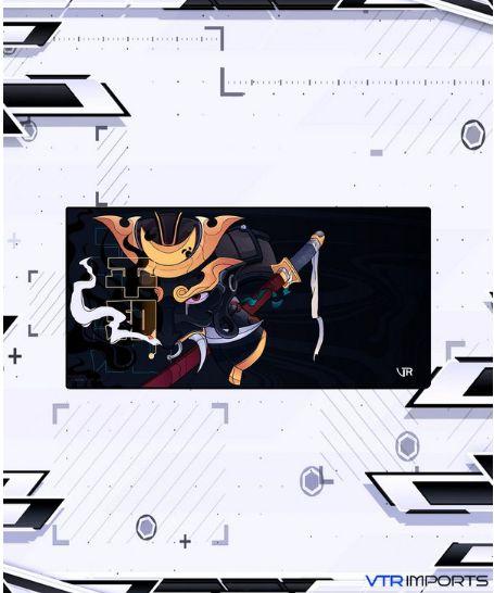 (SEM PREVISÃO - MARQUE A OPÇÃO AVISE-ME E SEJA NOTIFICADO) Mousepad Inked Gaming Collab VTR Imports - God Samurai XXL (120x60cm)