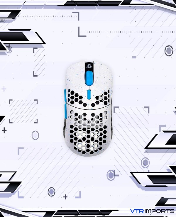 Mouse Gwolves Hati HTM Stardust (Limited Edition) Ultra Lightweight Honeycomb Design Wired Gaming Mouse up to 16000 DPI - 3389 Performance Sensor - (58g) (White Sky)