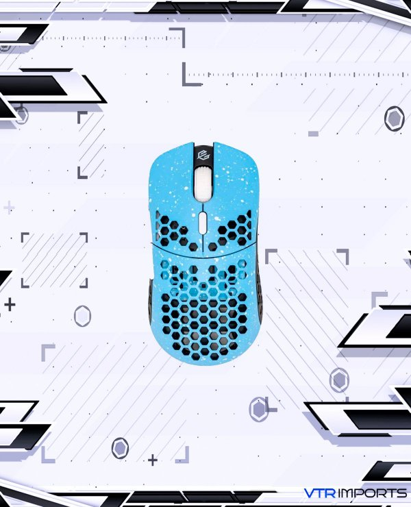 Mouse Gwolves Hati HTM Stardust (Limited Edition) Ultra Lightweight Honeycomb Design Wired Gaming Mouse up to 16000 DPI - 3389 Performance Sensor - (58g) (Blue Sky)