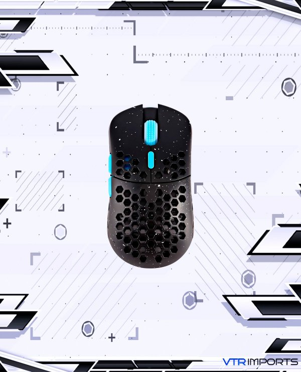 Mouse HK Gaming Mira S Ultra Lightweight Honeycomb Shell Wired RGB Gaming Mouse - Up to 12 000 cpi   6 Buttons - 61g Only (Mira-S, Blue Phantom)