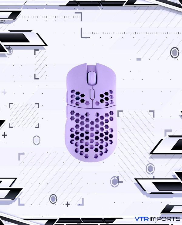 Mouse HK Gaming Mira S Ultra Lightweight Honeycomb Shell Wired RGB Gaming Mouse - Up to 12 000 cpi | 6 Buttons - 61g Only (Mira-S, Lavender)