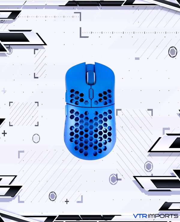 Mouse HK Gaming Mira S Ultra Lightweight Honeycomb Shell Wired RGB Gaming Mouse - Up to 12 000 cpi | 6 Buttons - 61g Only (Mira-S, Metallic Blue)