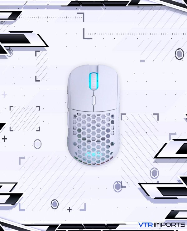 Mouse Pwnage Ultra Custom Symm: Ultralight Symmetrical Gaming Mouse - Flawless Pro Grade 3389 Optical Sensor- Flexible Paracord Cable - 100% PTFE Skates - Custom Weight as Low as 61 Grams - White