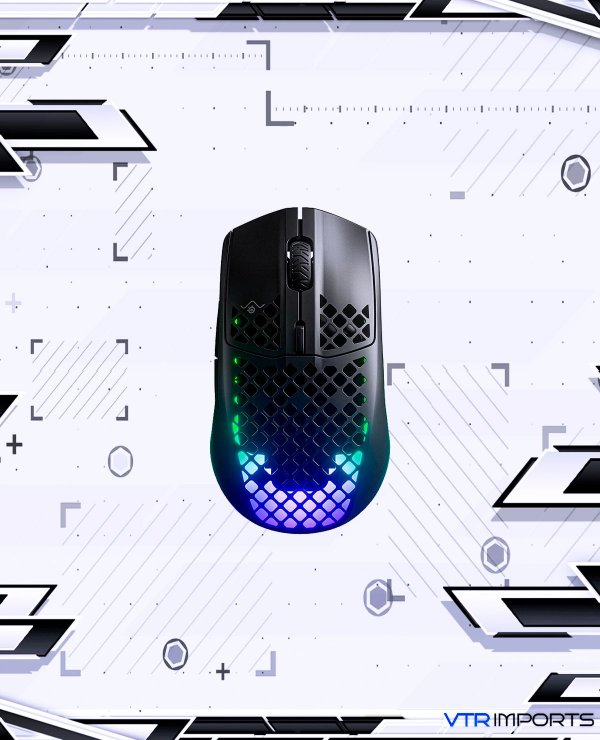 Mouse SteelSeries Aerox 3 Wireless - Super Light Gaming Mouse - 18,000 CPI TrueMove Air Optical Sensor - Ultra-lightweight Water Resistant Design - 200 Hour Battery Life