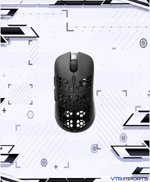 Mouse G-wolves Hati HTM Ultra Lightweight Honeycomb Design Wired Gaming Mouse 3360 Sensor - PTFE Skates - 6 Buttons (Black)