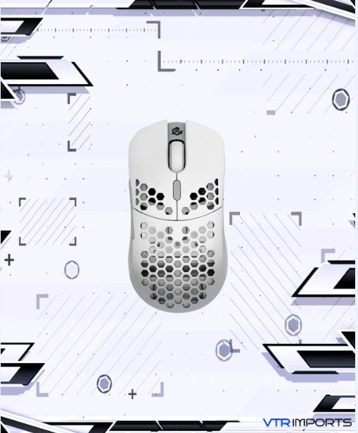 Mouse G-Wolves HTM Hati Ultra Lightweight Honeycomb Design Wired Gaming Mouse 3360 Sensor - PTFE Skates - 6 Buttons - Only 61G (White)