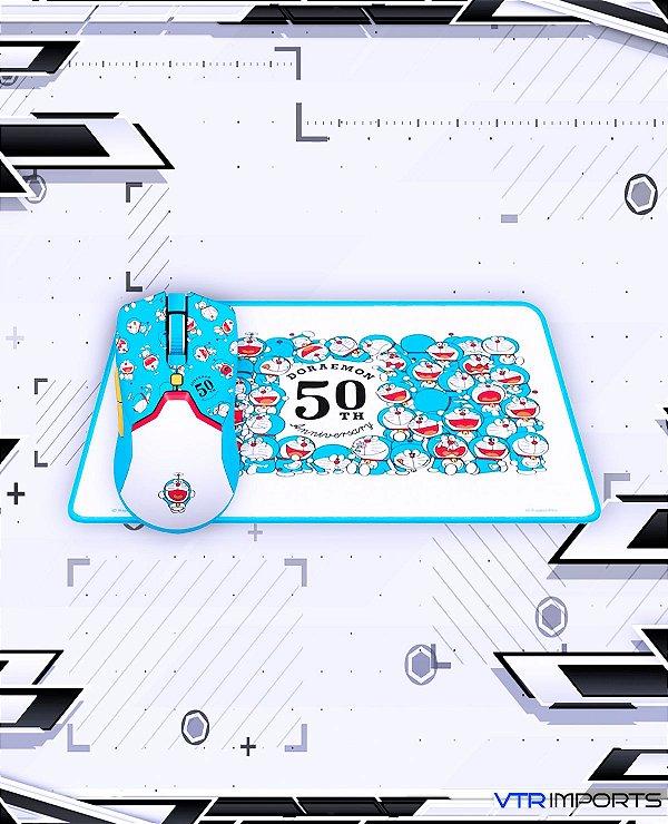 Kit Mouse Razer Viper Mini Doraemon 50th + Mousepad (Edição limitada)