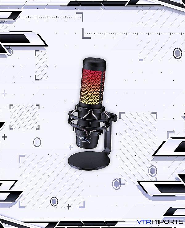 Microfone HyperX Condensador Quadcast S RGB