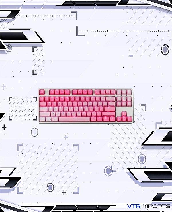 Keycaps Pink PBT 104 Teclas (Teclado Full-size)
