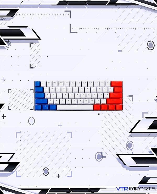 Keycaps Captain America PBT 61 Teclas (Teclado 60%)