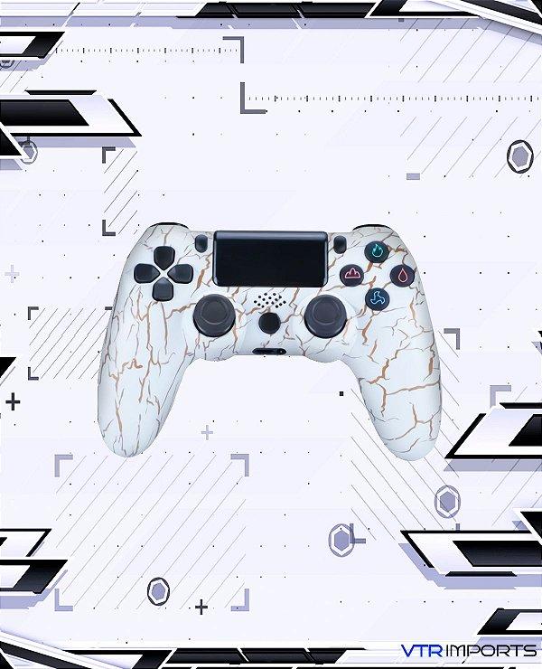 Controle PS4 - Golden White (Acompanha caixa e cabo carregador)