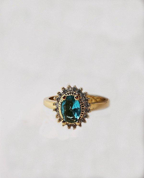 Anel oval cristal