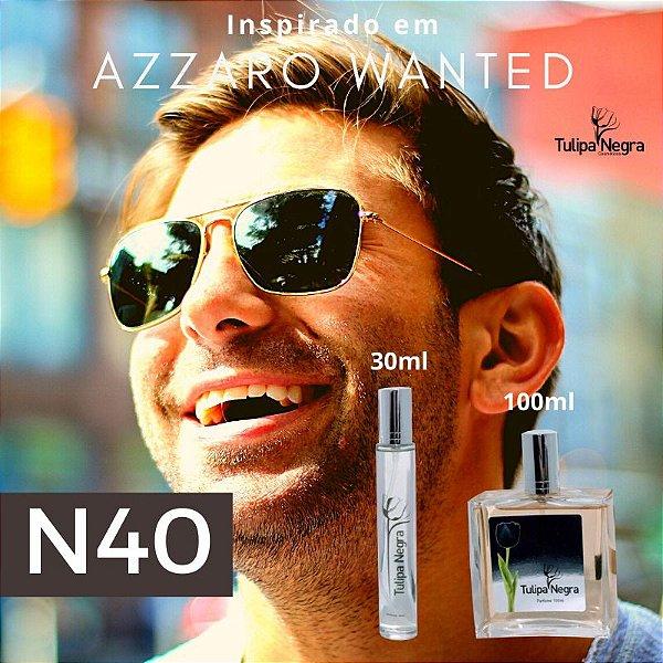 Perfume Tulipa Negra N 40 - Azzaro Wanted Marculino