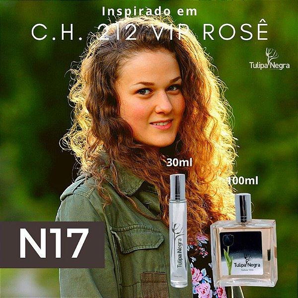 Perfume Tulipa Negra N 17 - Carolina Herrera 212 vip Rose