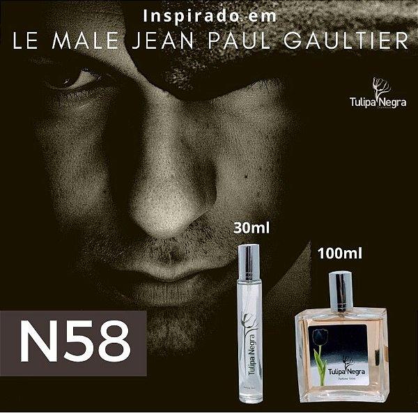 Perfume Tulipa Negra N 58 - Le Male Jean Paul Gautier