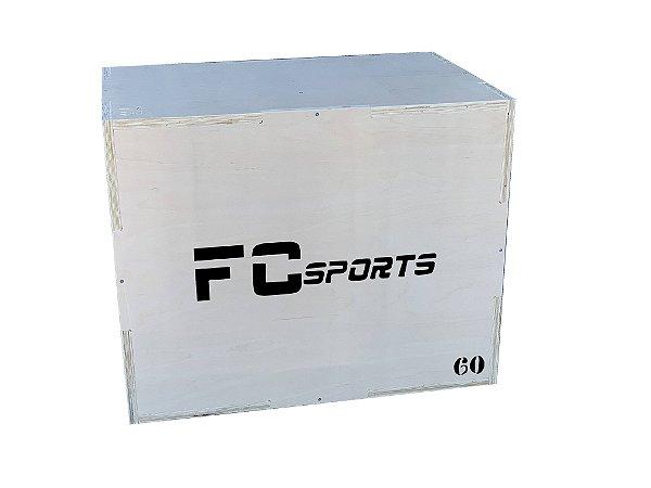 CAIXOTE PLIOMETRICO PLYO BOX MADEIRA 75x60x50cm FC SPORTS