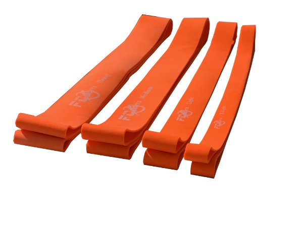 FAIXA ELASTICA MODELO SUPER BAND ORANGE 180 X 05 X  0,3 CM FC SPORTS
