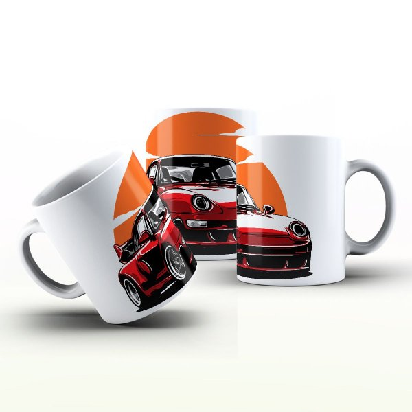 Caneca Personalizada Automóveis  - Porshe Vermelha