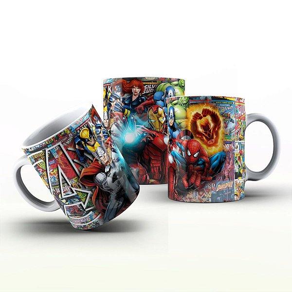 Caneca Personalizada Heróis  - HQ Super Heróis