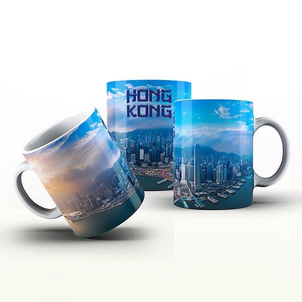 Caneca Personalizada Lugares - Porto de Hong Kong