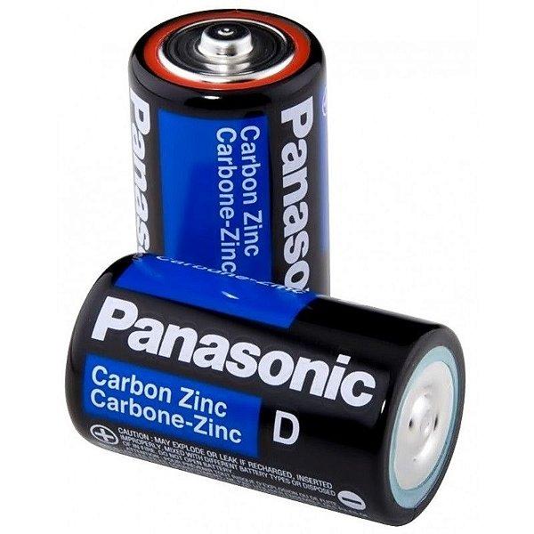 """Pilha Panasonic grande """"D"""" cartela com 2 (Duas)"""