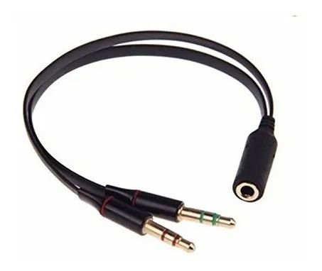 Adaptador P3 X 2 JP2 (Áudio e Microfone)