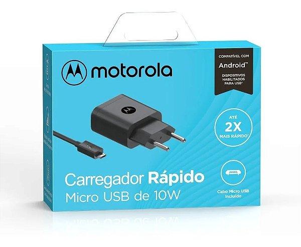 Carregador De Parede Motorola 10w, Com Cabo Usb