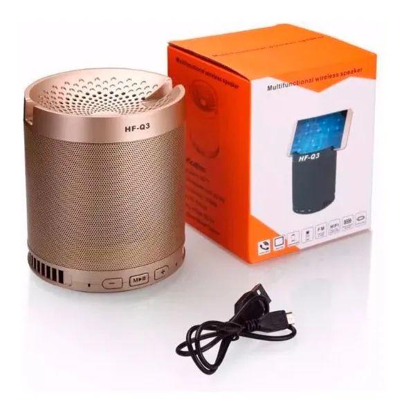 Caixa de som Bluetooth, P2, USB e Cartão de memória