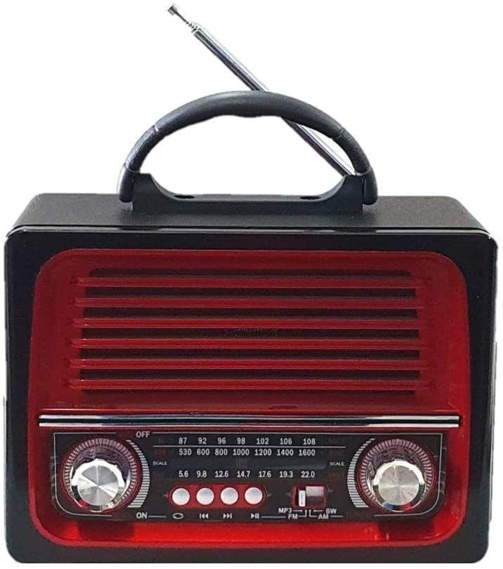 Rádio portátil AM/FM, USB, Bluetooth e Cartão de memória