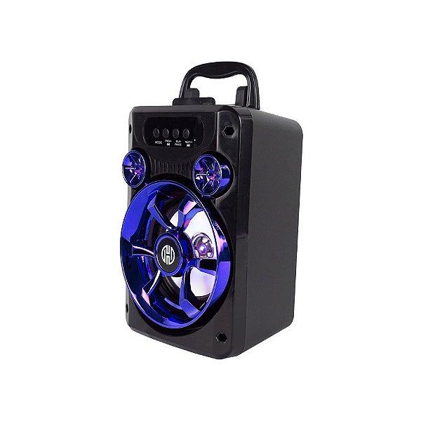 Caixa de som Hoopson RBM-010A, Conexão USB, Aux, Bluetooth e Cartão de memória