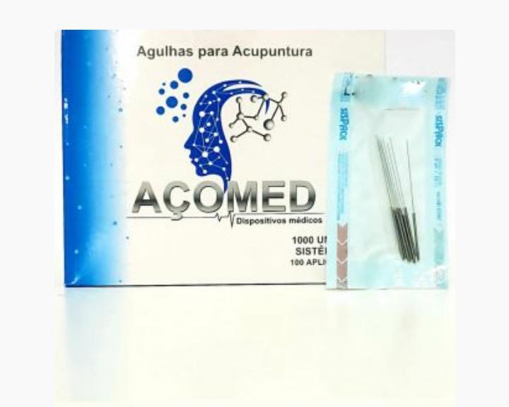 Agulhas de acupuntura AÇOMED - 1000 Unidades