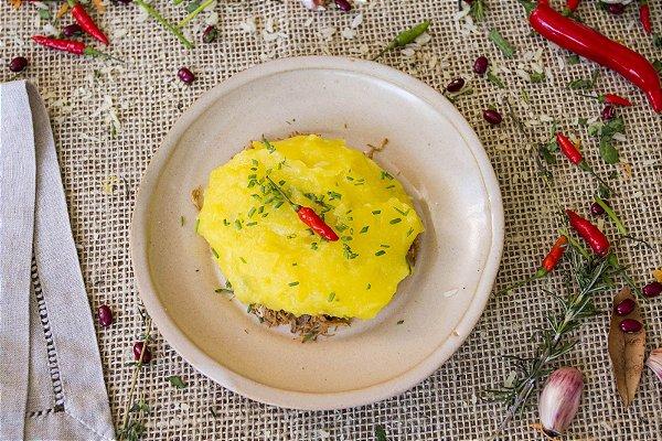 Escondidinho de batata-baroa com carne magra desfiada (glúten free/ lac free)- 400g