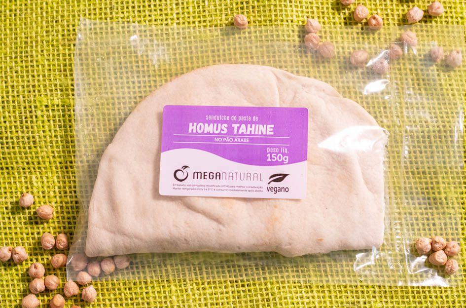 Sanduíche de pasta de homus tahine no árabe (vegano) - 150g