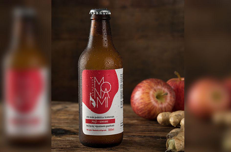 Kombucha de maçã e gengibre - 310ml