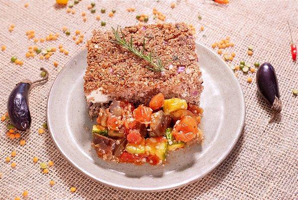Quibe de forno com cream cheese, quinoa e mix de legumes (low carb) - 400g