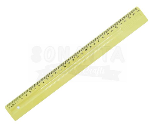 Régua de 30cm Dello Serena Amarelo Pastel - 3112ap