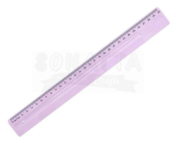 Régua de 30cm Dello Serena Rosa Pastel - 3112wp